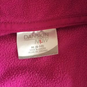 Danskin Now Jackets & Coats - Fleece Athletic Zip Jacket - Fuchsia
